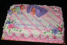 bath tub baby shower cakes for girls | Wedding Cakes, Cupcakes, Cookies, Cakes - ABC Cake Shop & Bakery ...