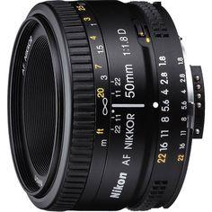 Amazon.com : Nikon 50mm f/1.8D AF Nikkor Lens for Nikon Digital SLR Cameras (2137) with 52mm Multicoated UV Protective Filter--offers lens protection & clearer pictures, 52mm Hard Lens Hood, Lens Cap Keeper, and 5 pc. Lens Cleaning Kit : Camera Lenses : Electronics