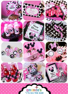 Minnie Mouse Party  Birthday Party Inspired by AmandasPartiesToGo, $29.00