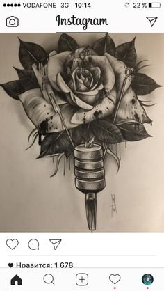 Rose Drawing Tattoo, Tattoo Design Drawings, Tattoo Sketches, Mago Tattoo, Skull Hand Tattoo, Tattoo Posters, Family Tattoo Designs, Rose Tattoos For Women, Tattoo Lettering Fonts