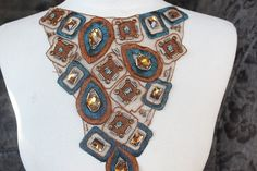 Cute embroidered and beaded applique This piece would work wonderful for your project For dress top costume ONE piece listing More applique