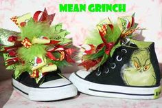 Grinch shoe bows