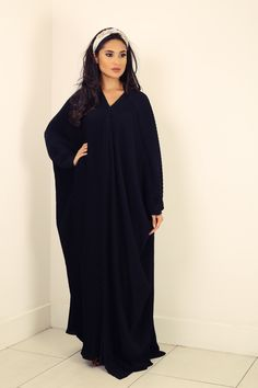 black abaya - Google Search Black Abaya, Royal Brides, Pleated Skirt, High Neck Dress, Elegant, Skirts, Beautiful, Collection, Google Search