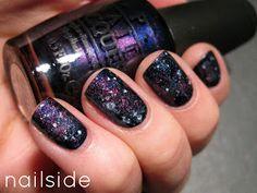 Halloween Costume Galaxy nails