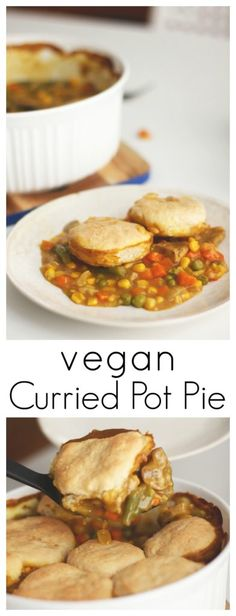 Curried Pot Pie - Two City Vegans // This dish is wholesome, warm, and filling!