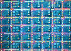 textile design, late eighties. in Commission. 74 x 60 cm. screening inc on duplex cardboard.