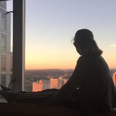 Watching the #sun rise over #Boston from our hotel room. #sunrise #cityscape