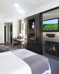 All of the rooms have gas fireplaces and many are uniquely designed; here, a Traditional Room. #Jetsetter