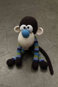Hallo and welcome to my shop with crochet patterns. This listing is NOT the finished toy! It is an AMIGURUMI PATTERN. MONKEY THE KIKY Crochet Pattern Size 33 cm Hook: 3mm Yarn: Catania 100% Cotton Schachenmayr, 50g = 125m; Nela 100% Cotton - the same as Catania, 50g = 123m,