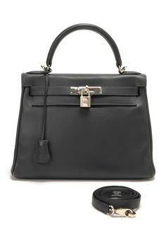 Vintage Hermes Leather Kelly 28 Square K Satchel
