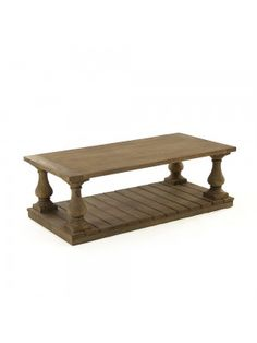 Bluestone Top Wood Stave Coffee Table Urban Chic