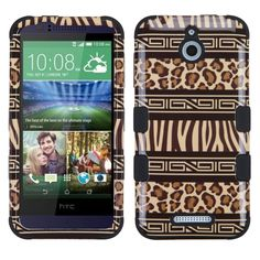 MYBAT TUFF Hybrid HTC Desire 510 Case - Zebra-Leopard