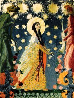 """""""Saint Kinga of Poland""""  by Józef Mehoffer (Polish;1869-1946); Muzeum Żup Krakowskich Wieliczka."""