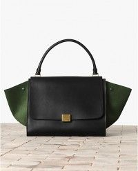 Celine Tricolor Emerald Green Calfskin Bag - #celine #handbags