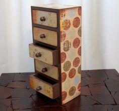 SALE Vintage Polka Dots Trinket Storage Box. $36.00, via Etsy.
