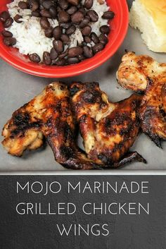 Chicken wings Cuban style, marinated in a delicious mojo and grilled to perfection. Yummy Chicken Recipes, Cuban Recipes, Yum Yum Chicken, Mojo Chicken, Grilled Chicken Wings, Traditional Cuban Food, Cooking Channel Recipes, Ways To Cook Chicken, Awesome Food
