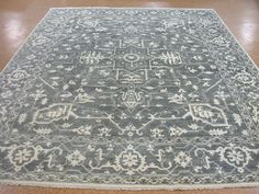 9 x 12 HERIZ Tribal Hand Knotted Wool GRAY IVORY Contemporary NEW Oriental Rug #Contemporary