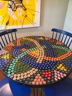 Diy Bottle Cap Crafts 535295105709735999 - 45 Ideal DIY ideas with recycled furniture Source by ablitzern Bottle Top Art, Bottle Top Crafts, Bottle Cap Projects, Bottle Cap Table, Beer Bottle Caps, Beer Caps, Diy Bottle, Beer Cap Table, Beer Cap Crafts