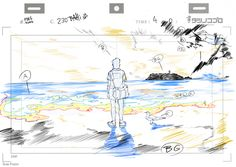 """bahijd: """"ca-tsuka: """" Ping Pong animations by Bahi JD (see more on twitter). """" バヒ・JD: layouts and roughs that I did. レイアウトとラフ原画 """""""