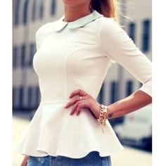Sweet Peter Pan Collar Sleeve Flounced Blouse New - Retail! Available in white. In 2 S(0-2) 2 L(8-10) and 1 XL (12-14) sizes. Tops Blouses