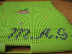 Customized Cross Stitch Ipad 2 Case FREE by handstitchedbyaylin, $40.00