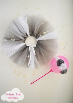 Baby Girl Outfit Grey Baby Tutu Baby White by DoloresBabyBoutique