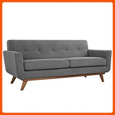 Modway Engage Upholstered Loveseat, Expectation Gray - Improve your home (*Amazon Partner-Link)