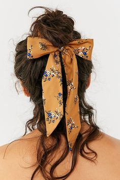 Darling Draped Bow Scrunchie | Urban Outfitters #hairstyle #hairaccessories #accessories #fashion #floral #springstyle #springfashion