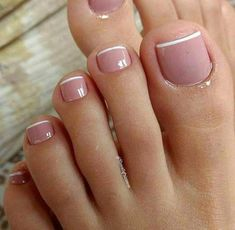 Toe nail designs, french pedicure designs, french tip pedicure, feet nail d Frensh Nails, Pink Toe Nails, Pretty Toe Nails, Toe Nail Color, Cute Toe Nails, Feet Nails, Toe Nail Art, Gorgeous Nails, Nail Colors