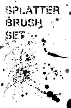 High-Res Splatter Set 1 - Download  Photoshop brush http://www.123freebrushes.com/high-res-splatter-set-1/ , Published in #GrungeSplatter. More Free Grunge & Splatter Brushes, http://www.123freebrushes.com/free-brushes/grunge-splatter/ | #123freebrushes
