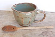 Petite Stoneware Batter Bowl rustic ceramic by jburkepottery