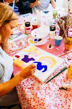Blond Amsterdam schilderen