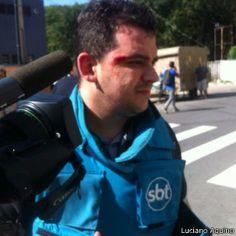 Assistente da SBT foi atingido no olho por estilhaços de bomba.