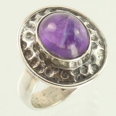 Natural AMETHYST Cabochon Gemstone 925 Sterling Silver Ring Size US 8 Wholesale #Unbranded
