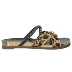 Fergie Women's Dexter Footbed Sandals (Leopard)