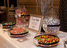 Candy Buffet with bride and grooms favorite candies!