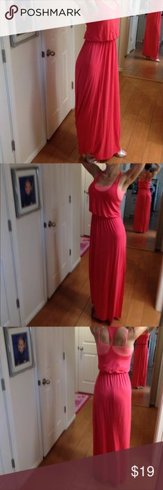 Coral Maxi Dress by Lush size XS Coral Maxi Dress by Lush size XS, 95% rayon 5% spandex Dresses Maxi