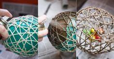 Como fazer bolas de Natal com barbante. As bolas natalinas são enfeites muito bonitos que podemos usar para decorar tanto a árvore de Natal como para fazer originais centros de mesa, ou para colocar em outros lugares da nossa casa. Se este ...
