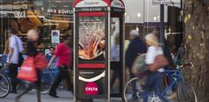 Costa launched a unique outdoor advertising campaign which included lenticular technology - a printing technique which creates the illusion of movement. The technology encouraged consumers to try their favourite coffee shaken over cold ice. As the public walked past the creative they saw a cup of refreshing, ice-cold coffee being shaken.