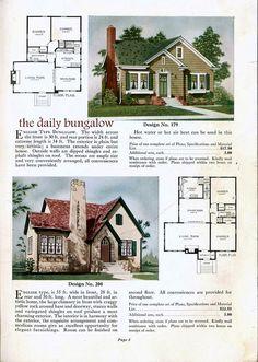 House plans blueprints home 5 (house colors bottom) Cottage Floor Plans, Small House Plans, House Floor Plans, Tudor Cottage, Cottage Homes, Vintage House Plans, House Blueprints, Sims House, House Layouts