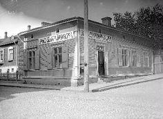 Jauho- ja sekatavarakauppa. Satamakatu 4 / Kuninkaankatu 38. Kuva 1910-luvulta.