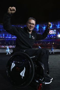 Members of New Zealand team enter the stadium during the Opening Ceremony of the Rio 2016 Paralympic Games at Maracana Stadium on September 7, 2016 in Rio de Janeiro, Brazil.
