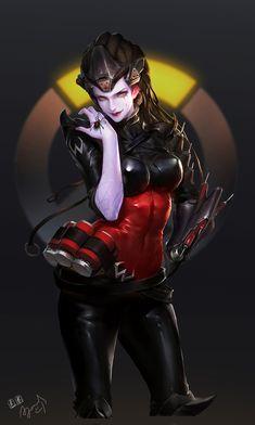 ArtStation - OW 以前画的黑寡妇, quan quan