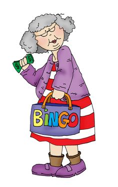 Bingo Granny  #DigiStamps #CuteStamps #Scrapbooking