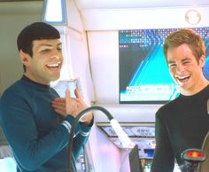 Spock and Kirk. I love this so much.