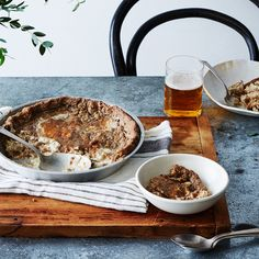 Lower Eastern Shore Oyster Pie ; rye flour ; heavy cream ; thyme ; seafood