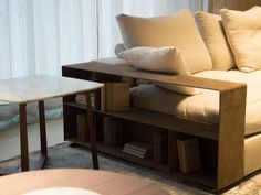 FLEXFORM GROUNDPIECE #armrest in suede, designed by Antonio Citterio. Find out more on www.flexform.it