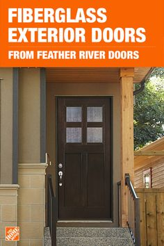 Maximize your home's value and style potential with an upgraded exterior door. With 4-lite cord obscure glass, new teak woodgrain, and clean contemporary lines, the Lighthouse Collection from Feather River Doors is sure to add instant curb appeal to your home. Click to shop these doors exclusively at The Home Depot.