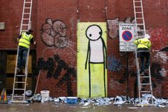 Streetart entfernen #streetart #London #shoreditch #street #art #stik #graffiti