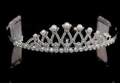 Crystal and Pearl Crown Silver Tiara for Wedding, Prom, Pageant, Quinceañera or Other Special Events. ** You can find more details by visiting the image link.